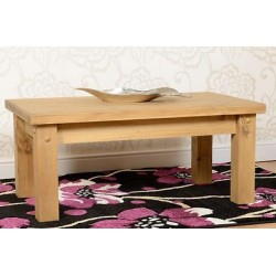 Tortilla Coffee Table Distressed Waxed Pine