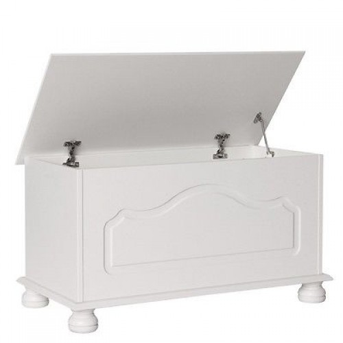 Copenhagen Blanket Storage Box in White