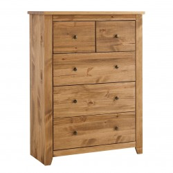Havana Solid Pine 2 Door Wardrobe