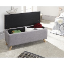 SECRETO Ottoman Storage Unit light grey