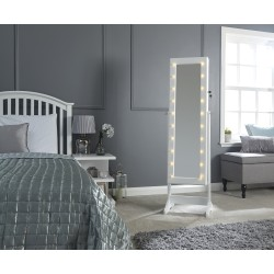 Amore jewellery armoire with led white